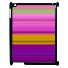 Stripes Colorful Background Colorful Pink Red Purple Green Yellow Striped Wallpaper Apple Ipad 2 Case (black) by Simbadda
