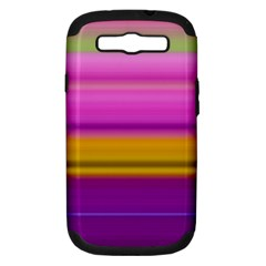 Stripes Colorful Background Colorful Pink Red Purple Green Yellow Striped Wallpaper Samsung Galaxy S Iii Hardshell Case (pc+silicone) by Simbadda