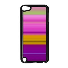 Stripes Colorful Background Colorful Pink Red Purple Green Yellow Striped Wallpaper Apple Ipod Touch 5 Case (black) by Simbadda