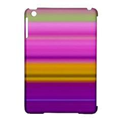 Stripes Colorful Background Colorful Pink Red Purple Green Yellow Striped Wallpaper Apple Ipad Mini Hardshell Case (compatible With Smart Cover) by Simbadda