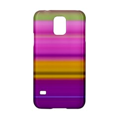 Stripes Colorful Background Colorful Pink Red Purple Green Yellow Striped Wallpaper Samsung Galaxy S5 Hardshell Case  by Simbadda