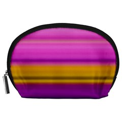 Stripes Colorful Background Colorful Pink Red Purple Green Yellow Striped Wallpaper Accessory Pouches (large)  by Simbadda