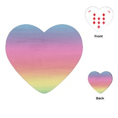 Watercolor Paper Rainbow Colors Playing Cards (heart)  by Simbadda