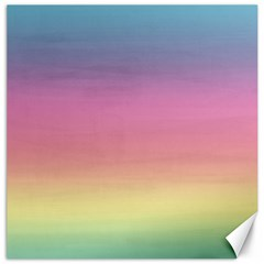 Watercolor Paper Rainbow Colors Canvas 20  X 20   by Simbadda
