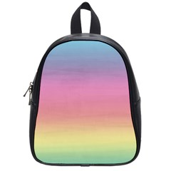 Watercolor Paper Rainbow Colors School Bags (small)  by Simbadda