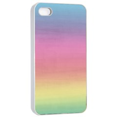 Watercolor Paper Rainbow Colors Apple Iphone 4/4s Seamless Case (white) by Simbadda