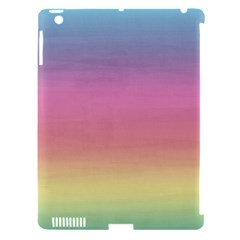 Watercolor Paper Rainbow Colors Apple Ipad 3/4 Hardshell Case (compatible With Smart Cover) by Simbadda