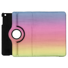 Watercolor Paper Rainbow Colors Apple Ipad Mini Flip 360 Case by Simbadda