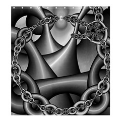 Grey Fractal Background With Chains Shower Curtain 66  X 72  (large)  by Simbadda
