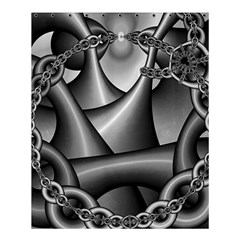 Grey Fractal Background With Chains Shower Curtain 60  X 72  (medium)