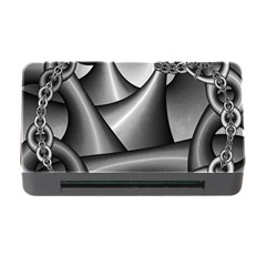 Grey Fractal Background With Chains Memory Card Reader With Cf by Simbadda