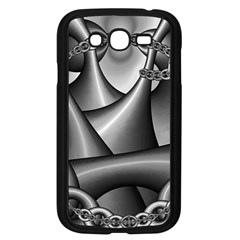 Grey Fractal Background With Chains Samsung Galaxy Grand Duos I9082 Case (black) by Simbadda