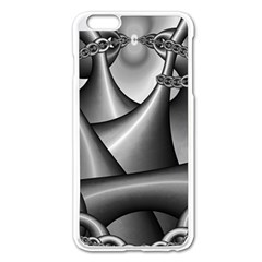 Grey Fractal Background With Chains Apple Iphone 6 Plus/6s Plus Enamel White Case