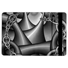 Grey Fractal Background With Chains Ipad Air 2 Flip by Simbadda