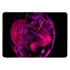 Fractal Using A Script And Coloured In Pink And A Touch Of Blue Samsung Galaxy Tab 8 9  P7300 Flip Case by Simbadda