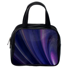 A Pruple Sweeping Fractal Pattern Classic Handbags (one Side) by Simbadda