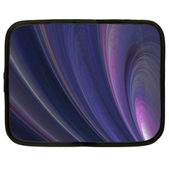 A Pruple Sweeping Fractal Pattern Netbook Case (xl)