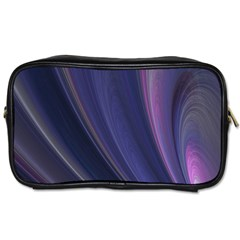 A Pruple Sweeping Fractal Pattern Toiletries Bags 2 Side by Simbadda