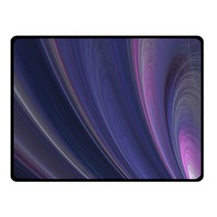 A Pruple Sweeping Fractal Pattern Fleece Blanket (small)