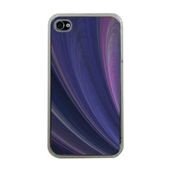 A Pruple Sweeping Fractal Pattern Apple Iphone 4 Case (clear) by Simbadda