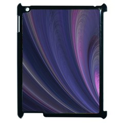 A Pruple Sweeping Fractal Pattern Apple Ipad 2 Case (black) by Simbadda