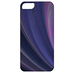 A Pruple Sweeping Fractal Pattern Apple Iphone 5 Classic Hardshell Case
