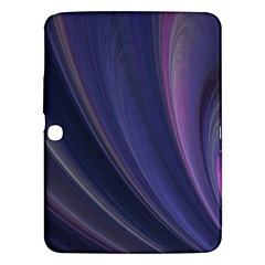 A Pruple Sweeping Fractal Pattern Samsung Galaxy Tab 3 (10 1 ) P5200 Hardshell Case