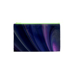 A Pruple Sweeping Fractal Pattern Cosmetic Bag (xs) by Simbadda