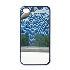 Mural Wall Located Street Georgia Usa Apple Iphone 4 Case (black)