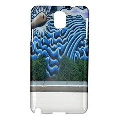 Mural Wall Located Street Georgia Usa Samsung Galaxy Note 3 N9005 Hardshell Case by Simbadda
