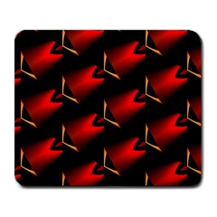 Fractal Background Red And Black Large Mousepads by Simbadda