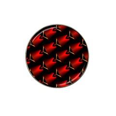 Fractal Background Red And Black Hat Clip Ball Marker by Simbadda