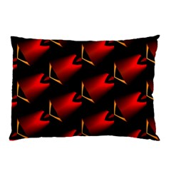 Fractal Background Red And Black Pillow Case by Simbadda