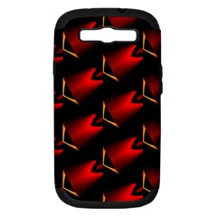 Fractal Background Red And Black Samsung Galaxy S Iii Hardshell Case (pc+silicone)
