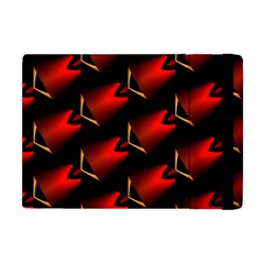 Fractal Background Red And Black Apple Ipad Mini Flip Case by Simbadda