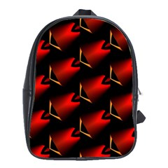 Fractal Background Red And Black School Bags (xl)  by Simbadda