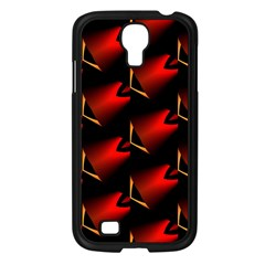 Fractal Background Red And Black Samsung Galaxy S4 I9500/ I9505 Case (black) by Simbadda