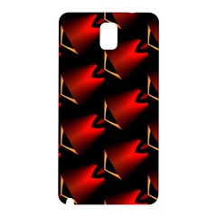 Fractal Background Red And Black Samsung Galaxy Note 3 N9005 Hardshell Back Case by Simbadda