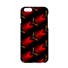 Fractal Background Red And Black Apple Iphone 6/6s Hardshell Case by Simbadda