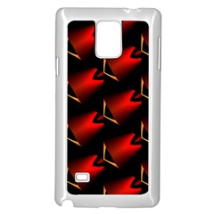 Fractal Background Red And Black Samsung Galaxy Note 4 Case (white) by Simbadda
