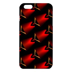 Fractal Background Red And Black Iphone 6 Plus/6s Plus Tpu Case by Simbadda