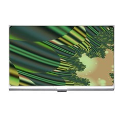 A Feathery Sort Of Green Image Shades Of Green And Cream Fractal Business Card Holders