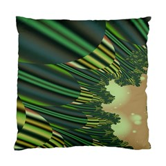 A Feathery Sort Of Green Image Shades Of Green And Cream Fractal Standard Cushion Case (two Sides) by Simbadda