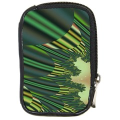 A Feathery Sort Of Green Image Shades Of Green And Cream Fractal Compact Camera Cases by Simbadda