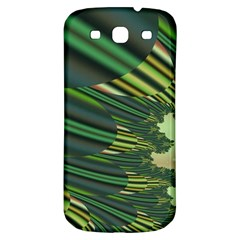 A Feathery Sort Of Green Image Shades Of Green And Cream Fractal Samsung Galaxy S3 S Iii Classic Hardshell Back Case by Simbadda