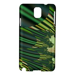 A Feathery Sort Of Green Image Shades Of Green And Cream Fractal Samsung Galaxy Note 3 N9005 Hardshell Case by Simbadda