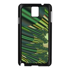 A Feathery Sort Of Green Image Shades Of Green And Cream Fractal Samsung Galaxy Note 3 N9005 Case (black)