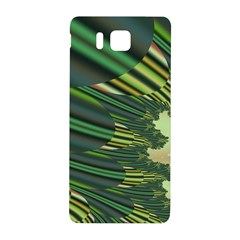 A Feathery Sort Of Green Image Shades Of Green And Cream Fractal Samsung Galaxy Alpha Hardshell Back Case by Simbadda