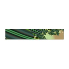 A Feathery Sort Of Green Image Shades Of Green And Cream Fractal Flano Scarf (mini)