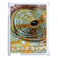 Macro Of The Eye Of A Chameleon Apple Ipad 2 Case (white) by Simbadda